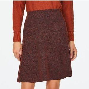 LOFT Outlet Burgundy Red Tweed Flippy Skirt 004